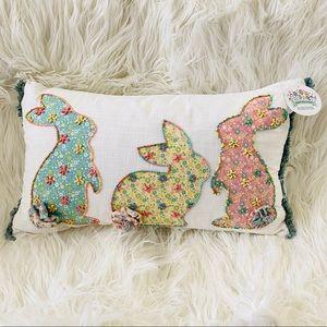 NWT Bunny Boulevard Easter Spring Rabbit Pillow